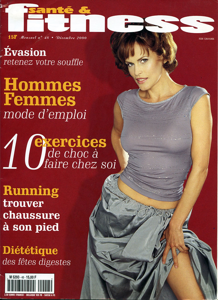 Justina-Vail-Evans-Sante-and-Fitness-December-2000-1-cover